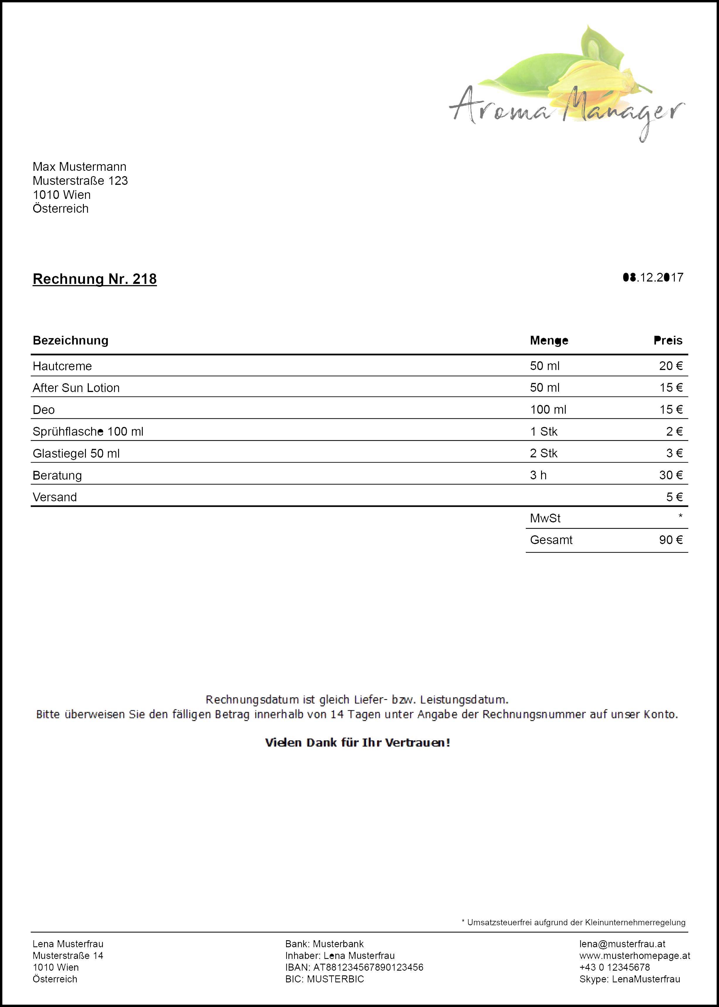 Charmant Rechnungsvorlage Frei Druckbar Fotos - Entry Level Resume ...